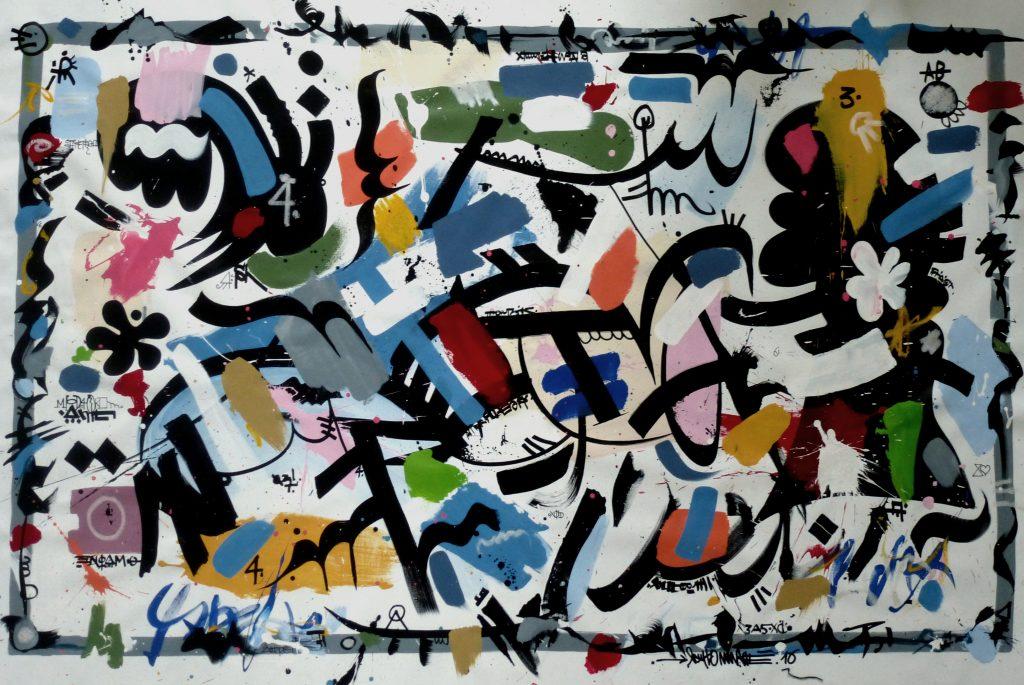 Arithmétique, 200 x 130 cm, techniques mixtes, 2016