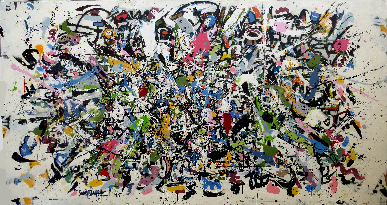 Big bang theory, 224 x 118 cm, acrylique sur toile, 2016