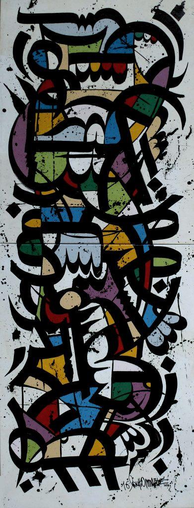 Totem, 192 x 73 cm, acrylique sur toile, 2016